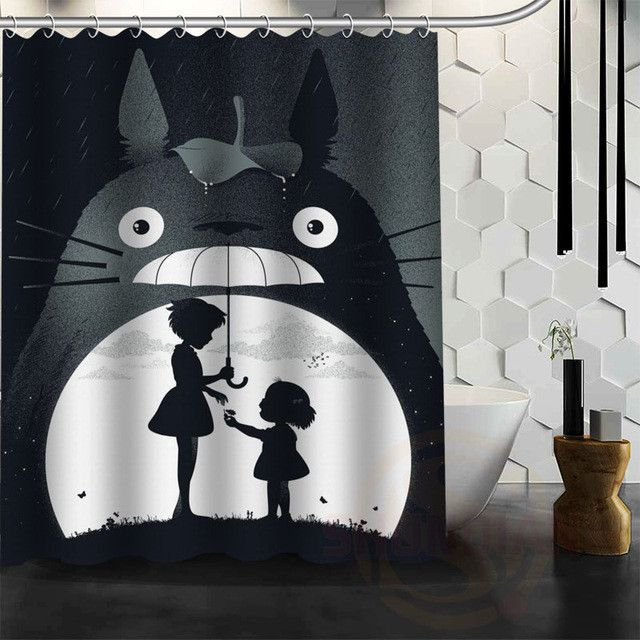 New All Studio Ghibli Character Totoro Custom Shower Curtain Bathroom Decor Bath