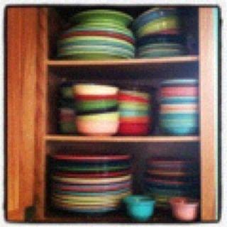 colorful Fiestaware!