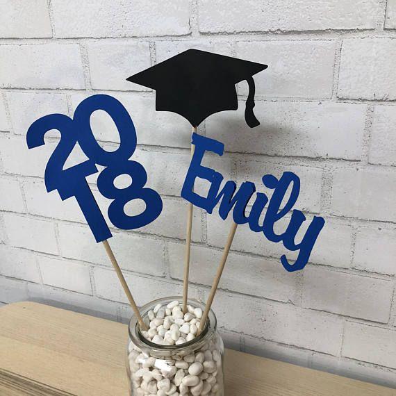 Graduation Centerpiece, Class of 2019, Grad Party Decor, Graduation Party, Grad Party Table Decor, Custom Parties by PartyAtYourDoor on