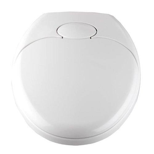 Astounding Family White Automatic Lowering Round Toilet Seat With Alphanode Cool Chair Designs And Ideas Alphanodeonline