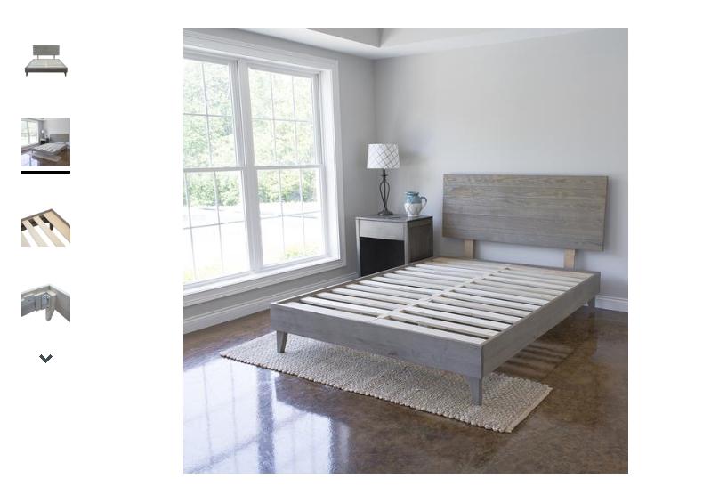 Mid Century Bed Frame Reclaimed Ash Barn Wood Platform