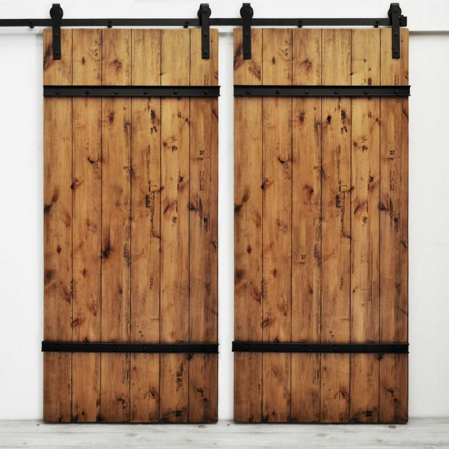 Dogberry Collections Flush Wood Finish Herringbone Barn Door Without Installation Hardware Kit Wayfair In 2020 Barn Doors Sliding Brick Exterior House Wood Doors Interior