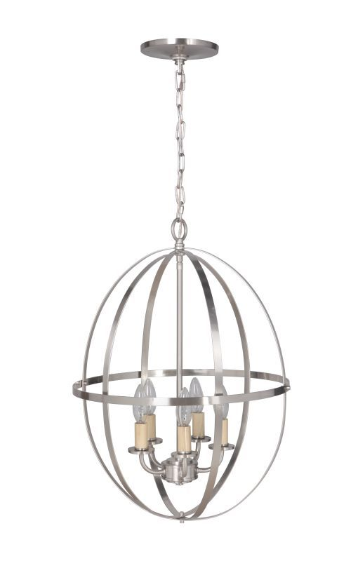 Worth Home Products Pbcw 1230 Instant Pendant Series Five Light 16 Wide Recesse Brushed Nick Mini Chandelier Recessed Light Conversion Kit Chandelier Lighting