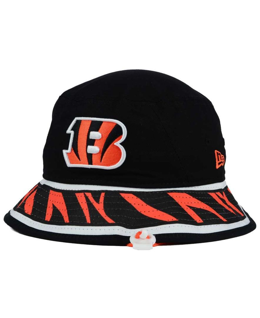 082f090f81b ... new era cincinnati bengals team stripe bucket hat