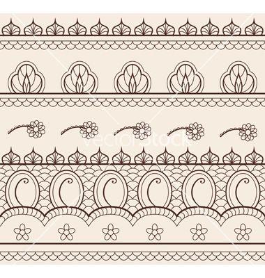 Indian henna ornament seamless vector