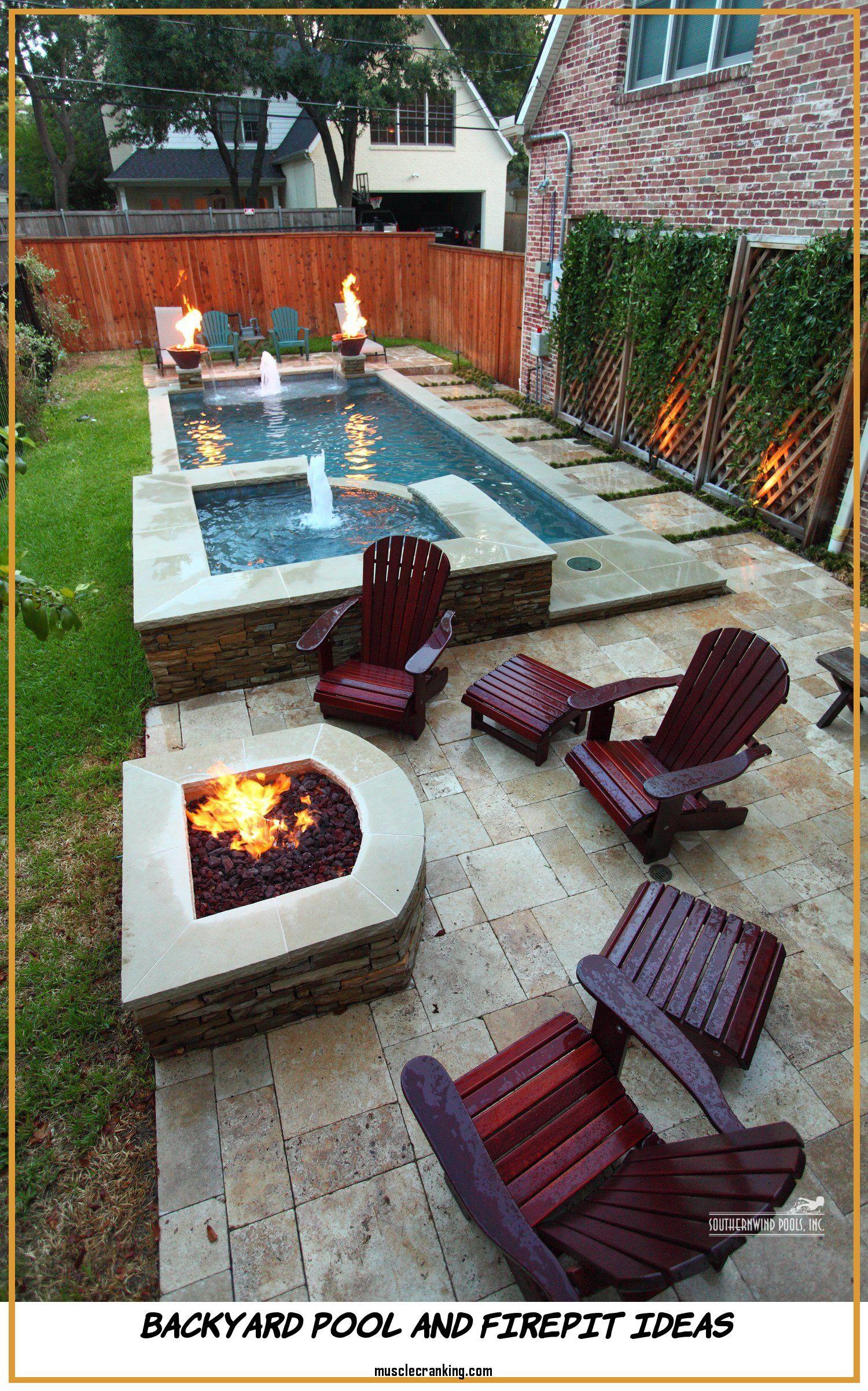 Backyard Pool And Firepit Ideas 2021 Backyard Patio Small Backyard Pools Small Patio Design