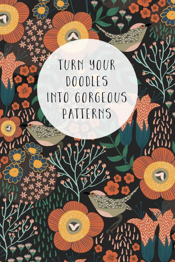 Turn your doodles and sketches into a beautiful pattern in this Surface Pattern Design Fundamentals class #surfacepatterndesign