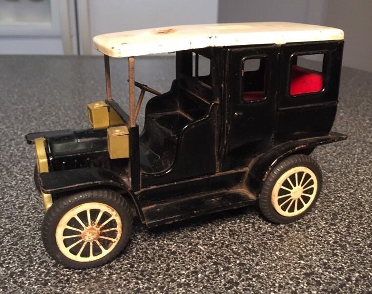 Vintage Tin Friction Ford Model T Toy Car Made In Japan Toy Car