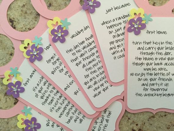 Wine Tags for Bridal Showers and Weddings by MeticulousArt!