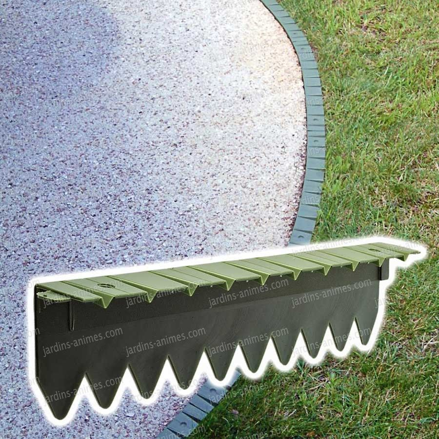 bordurette pelouse flexible en plastique 6x50cm | jardinage