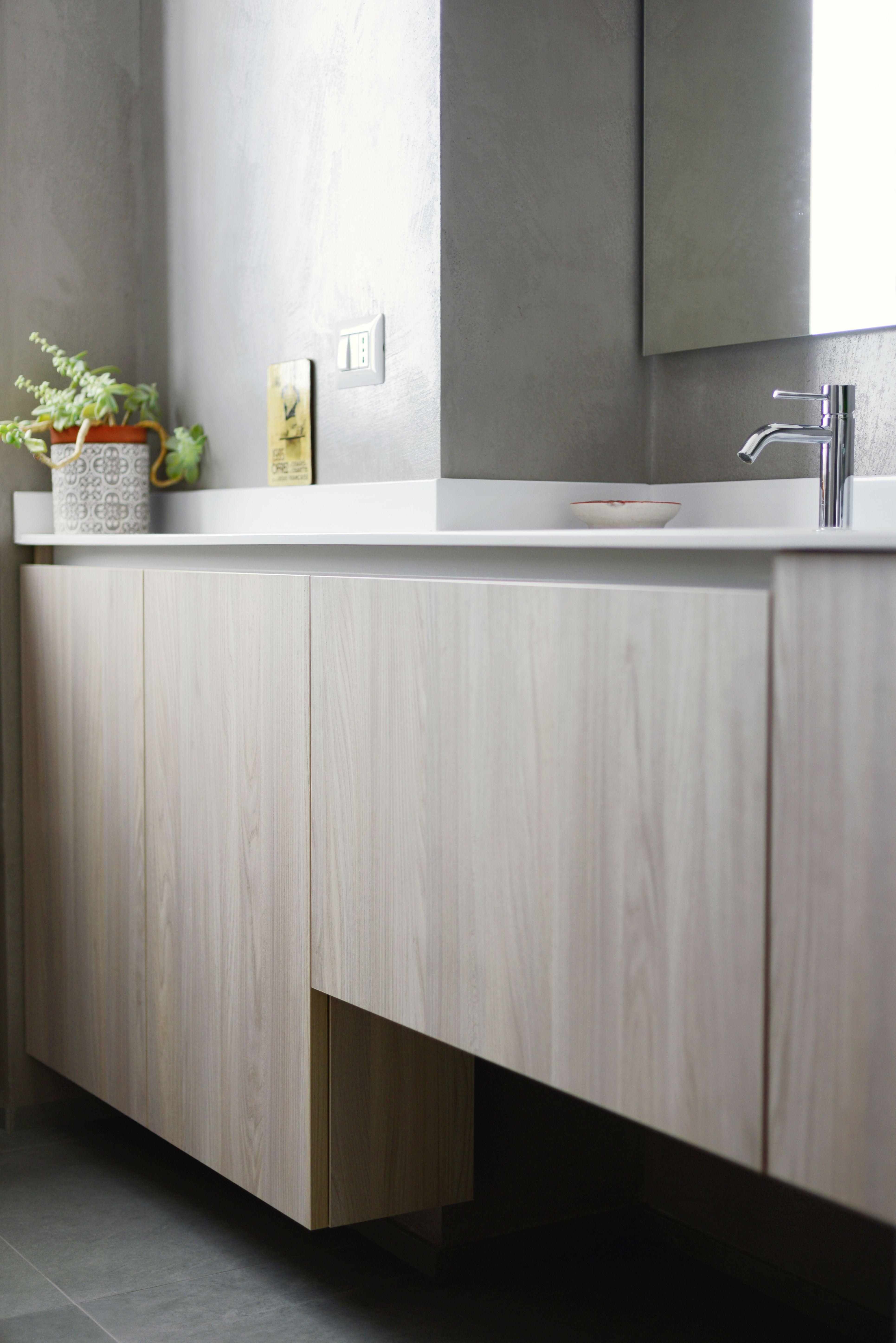 Mobile bagno #Altamarea in texture rovere | L\'idea realizzata | San ...