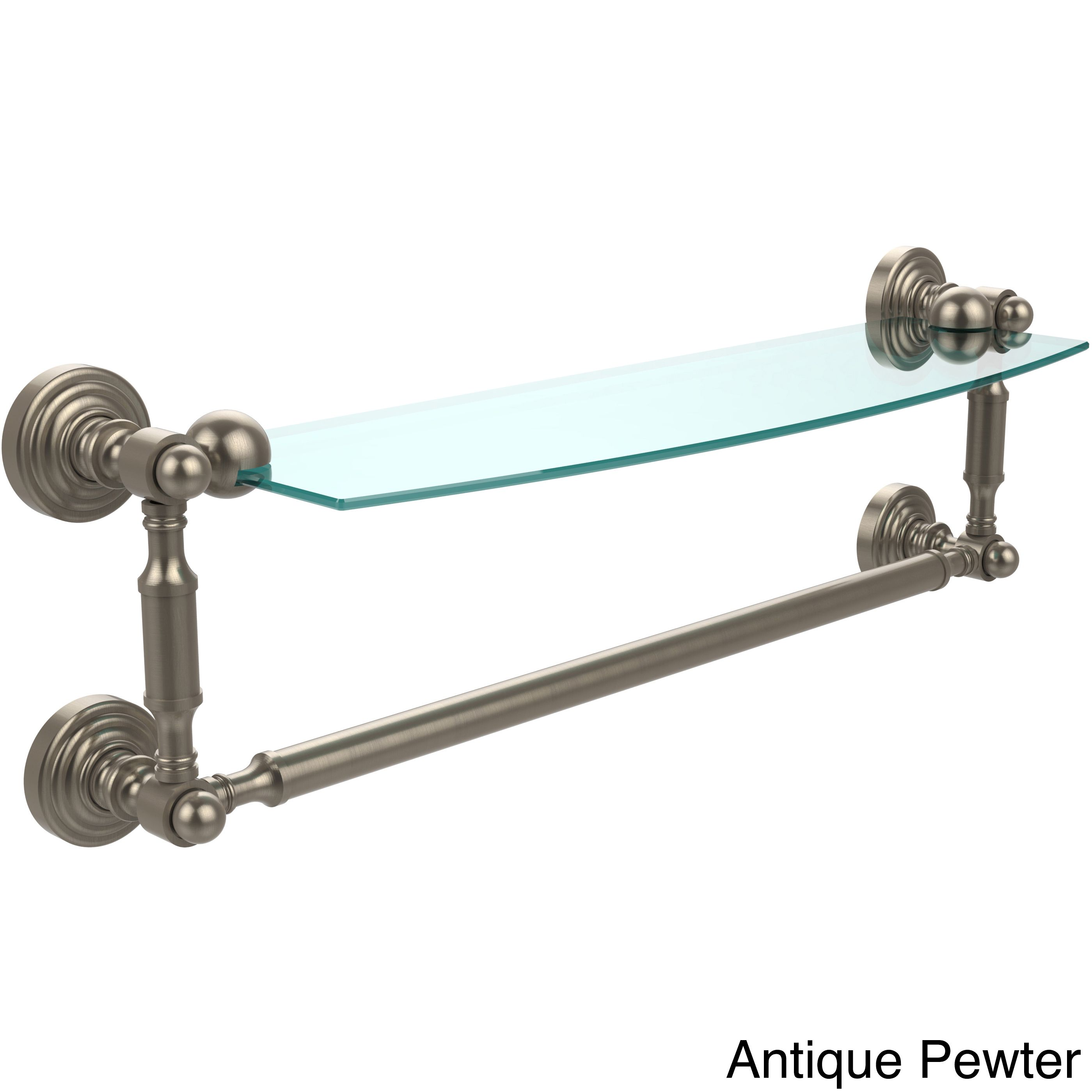 Allied Brass Waverly Place Collection 18-inch Glass Vanity Shelf ...