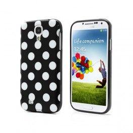 Coque souple TPU noire à pois pour Samsung Galaxy S4 10€