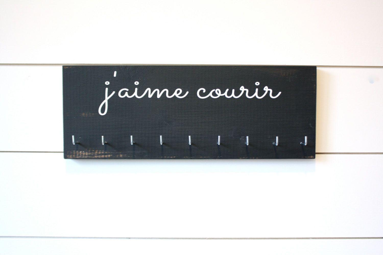 Running Medal Holder - French - j'aime courir (I Love to Run) - Medium