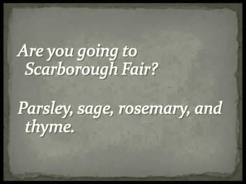 Simon Garfunkel Scarborough Fair Full Version Lyrics