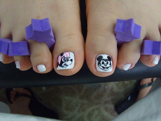 & mickey toe nails