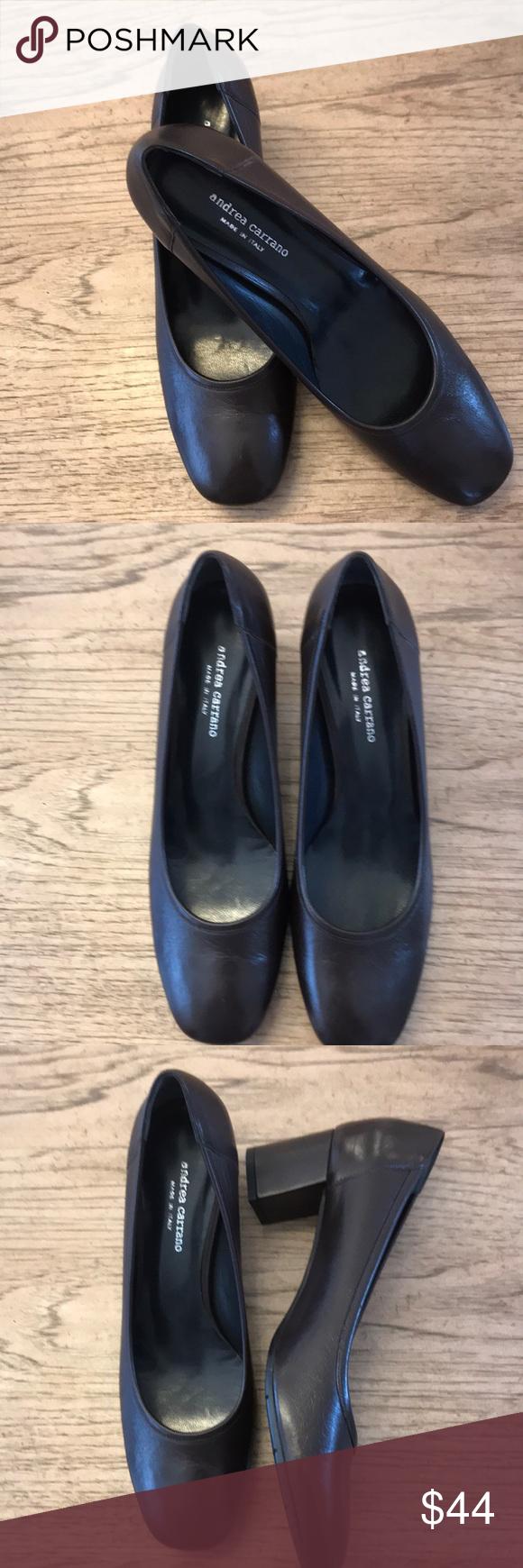ANDREA CARRANO BROWN 2.25 Inch heel NWT