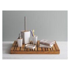 Bathroom Accessories Bath Mats More Wooden Bathroom Accessories Wood Slats Toilet Brushes And Holders