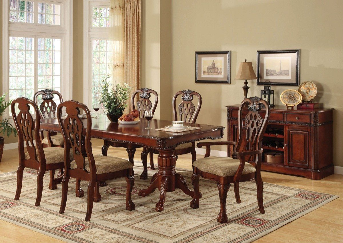 Furniture Of America Chianti 2pc Traditional Style Dinner Chair