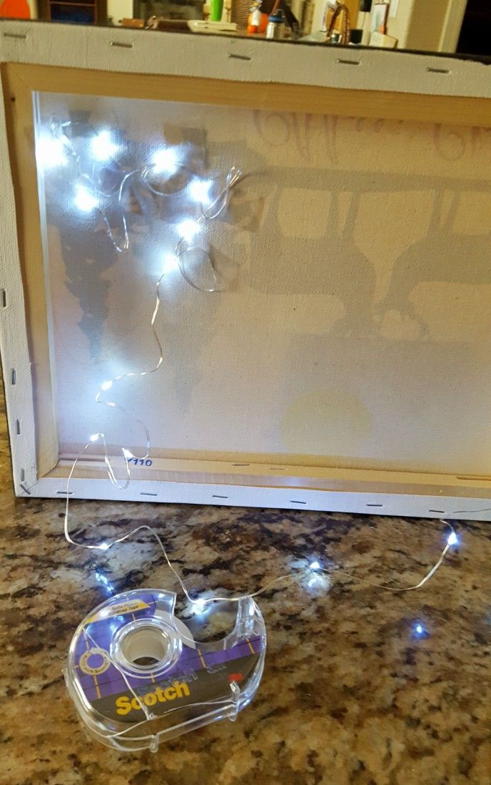 DIY Light Up Canvas Wall Decor - Leap of Faith Crafting
