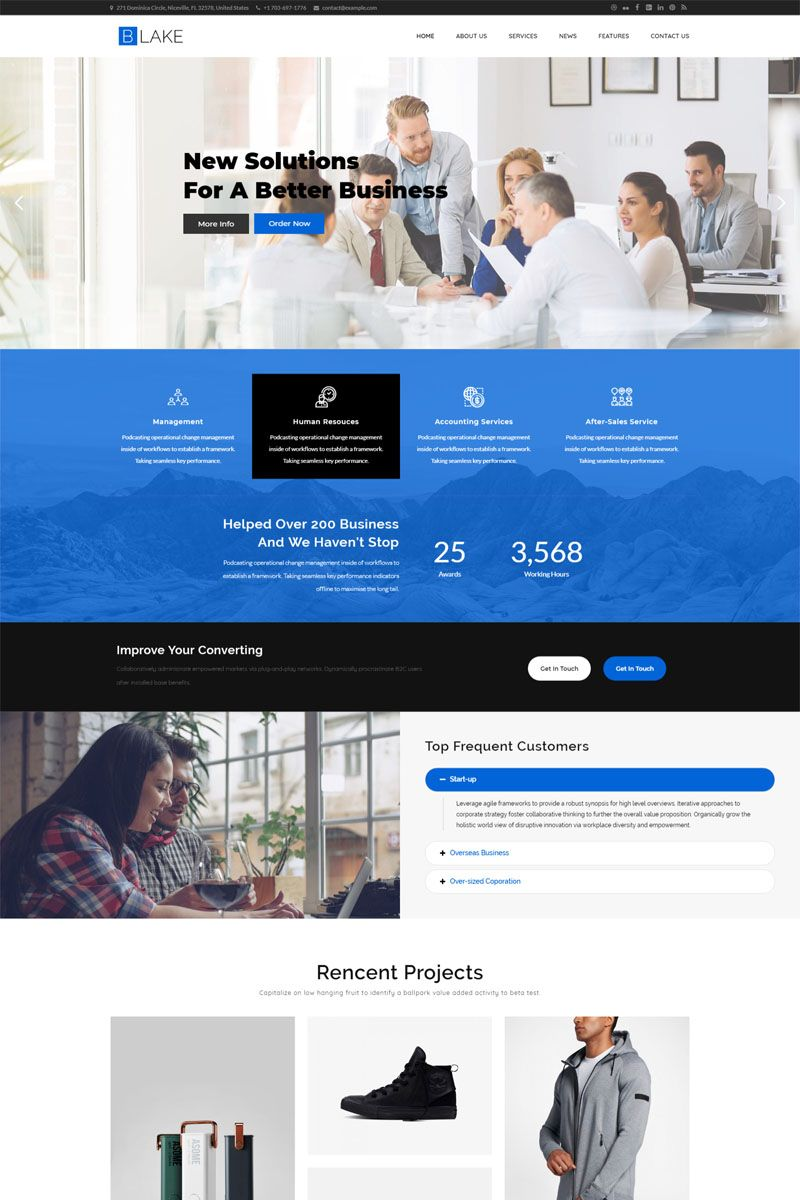 Blake Business Services Wordpress Theme Ad Wordpress Business
