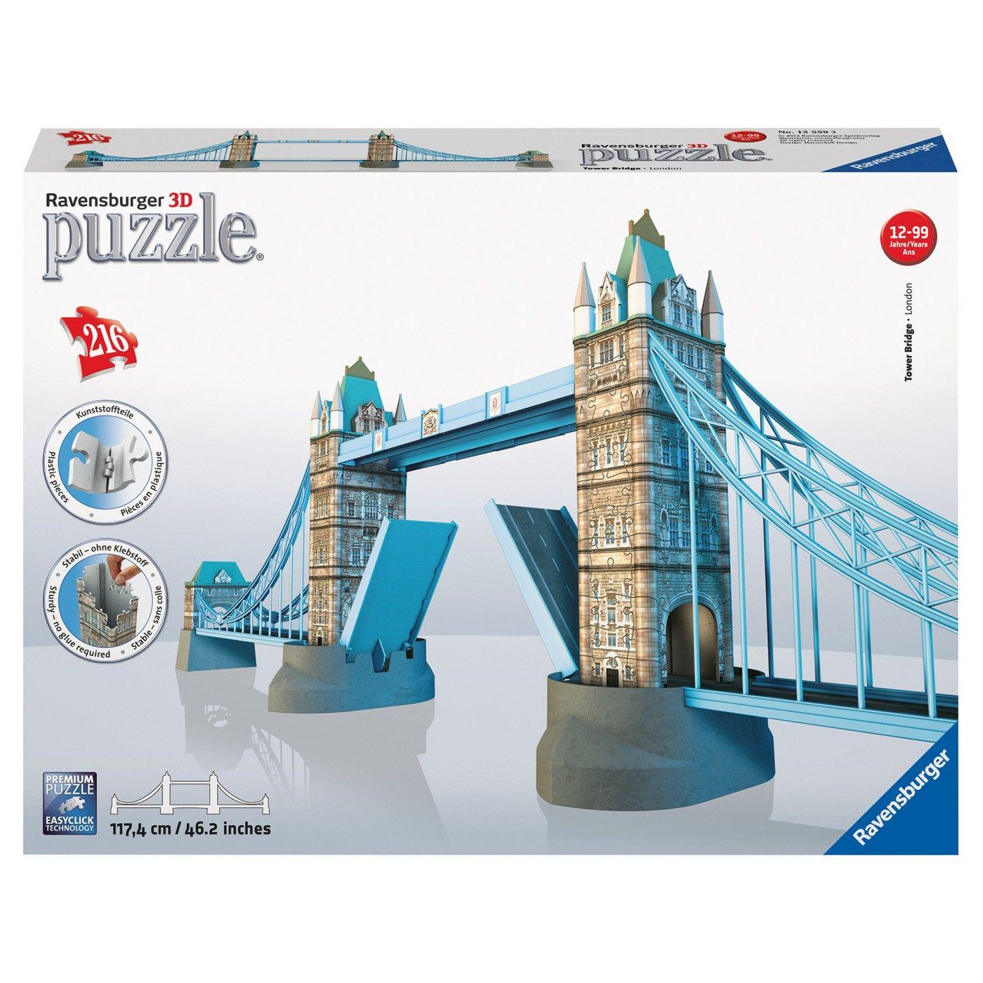 Ravensburger London Tower Bridge 3d Puzzle 216pc Tower Bridge London Tower Bridge Ravensburger Puzzle