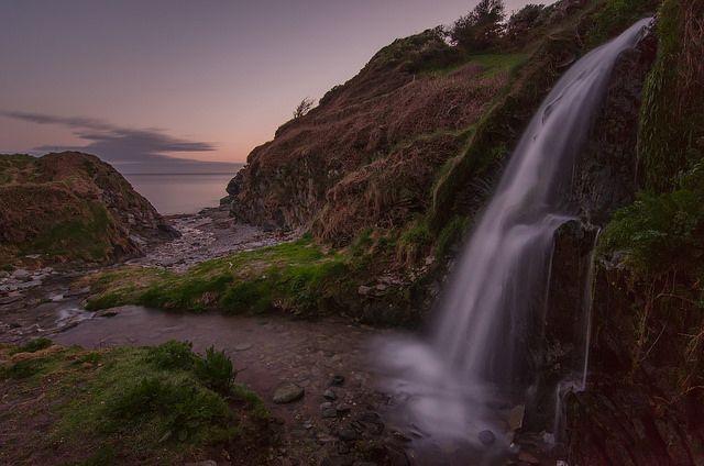 Lansallos Waterfall by jedlangdon, via Flickr