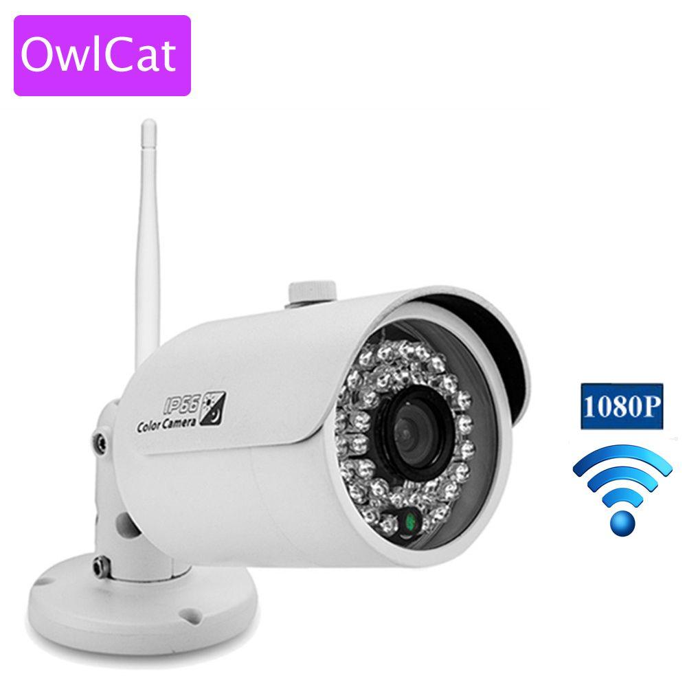 Alarmes De Securite Owlcat Mini Wifi Ip Camera Bullet Outdoor Wireless Network Kamara 2mp Full Hd 1080p Ir Wireless Networking Ip Camera Best Security Cameras