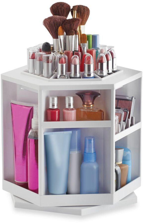 Lori Greiner 174 Spinning Cosmetic Organizer In White