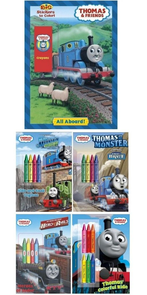 Thomas And Friends Coloring Books And Crayons Thomas And Friends, Coloring  Books, Thomas