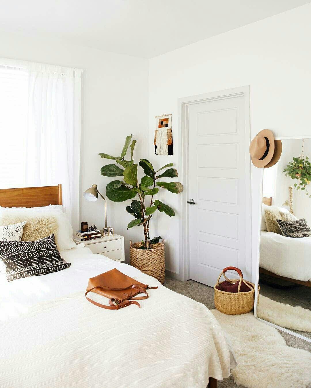 Bedroom Decor Natural Boho Plants Flowers Simple