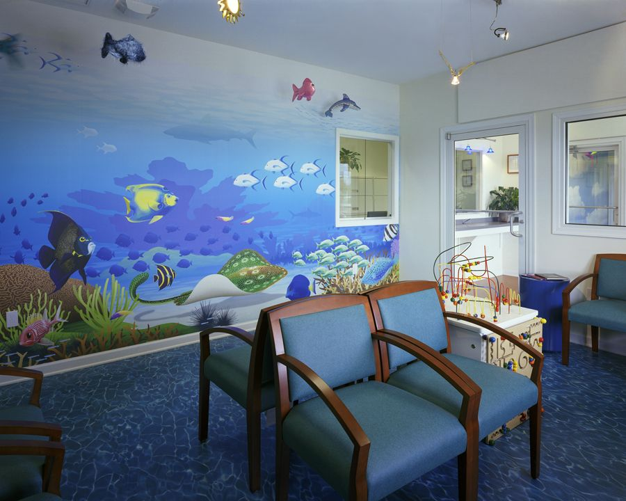 pediatric office decorating |  dental office design