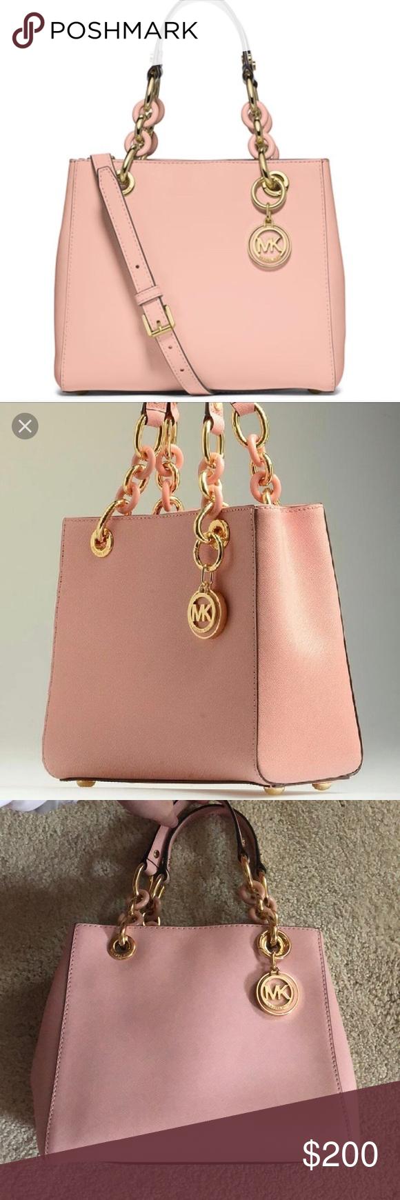 93ec59b95b3e Spotted while shopping on Poshmark  Michael Kors Cynthia Saffiano Satchel!   poshmark  fashion  shopping  style  Michael Kors  Handbags