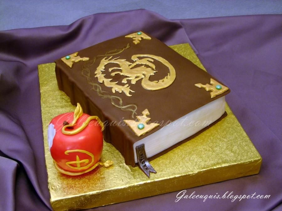 Descendants Mals spell book Cake by Gardenia Galecuquis