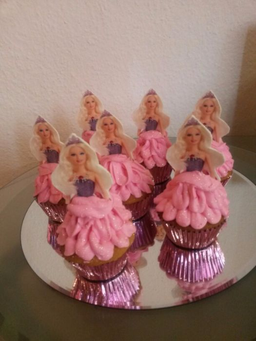 Barbie Cupcakes Barbie Cupcakes Barbie Birthday And
