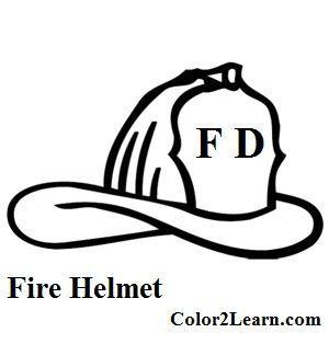 Fire Hat Coloring Page Firefighter Fireman Helmet Fireman Hat