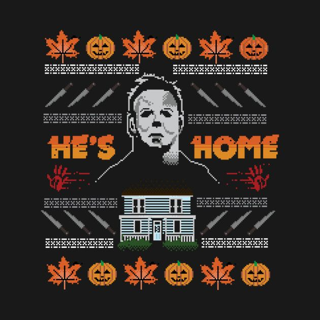 Hes Home Christmas Sweater Halloweenie Pinterest