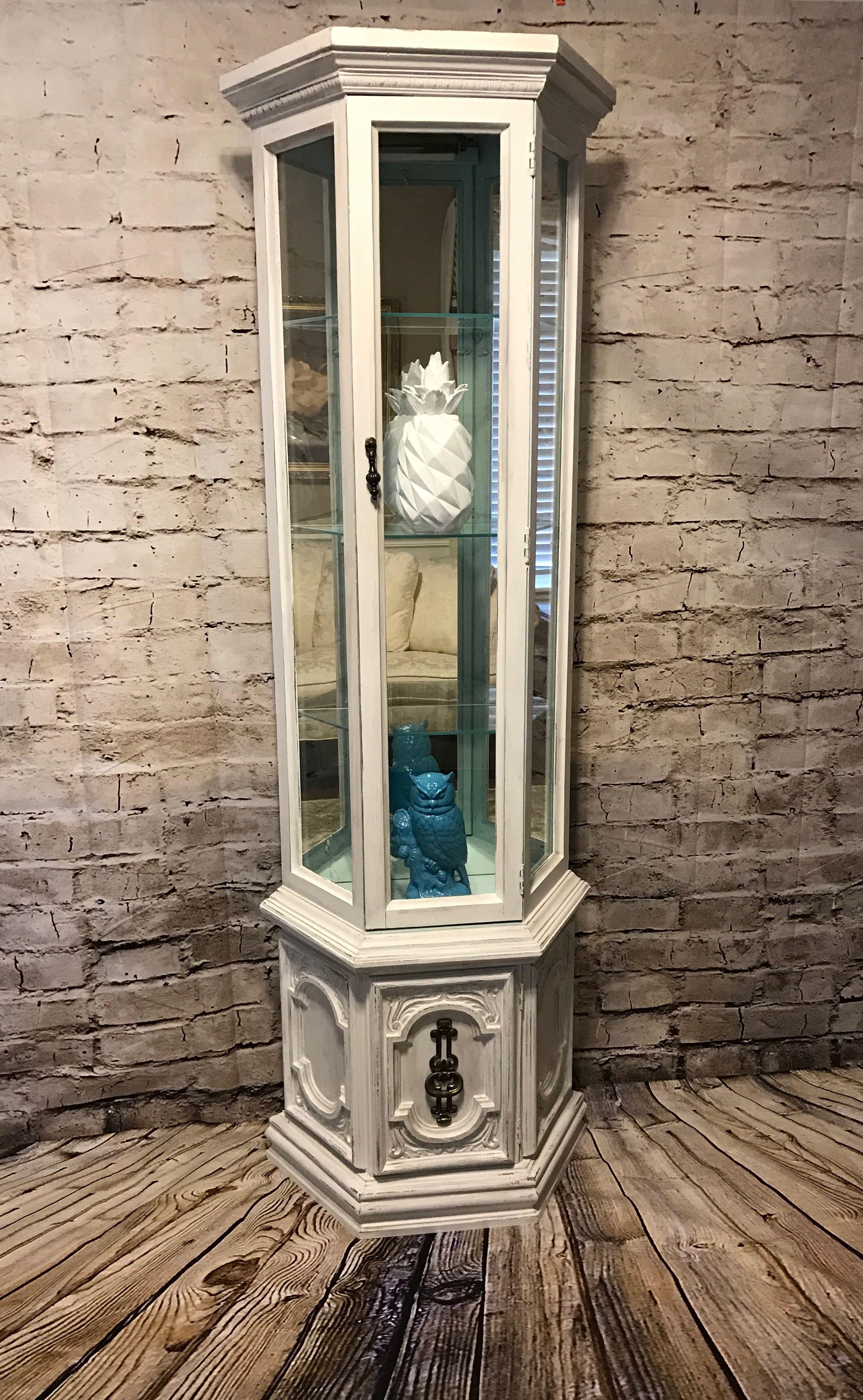 Vintage Curio Cabinet Painted Curio Cabinets, Diy Cabinets, China Cabinets,  Painting Cabinets,