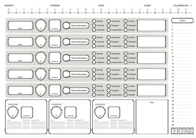 Dnd 5e Player Tracker Dnd Character Sheet Dnd Character Sheet