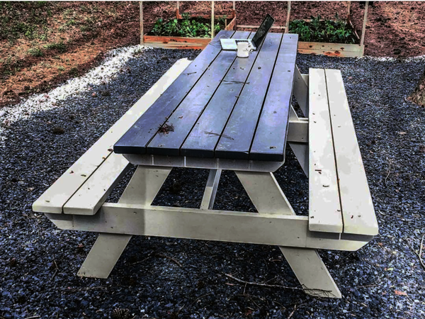 Diy 10 Ft Picnic Table Outdoor Picnic Tables Picnic Table Picnic Table Makeover