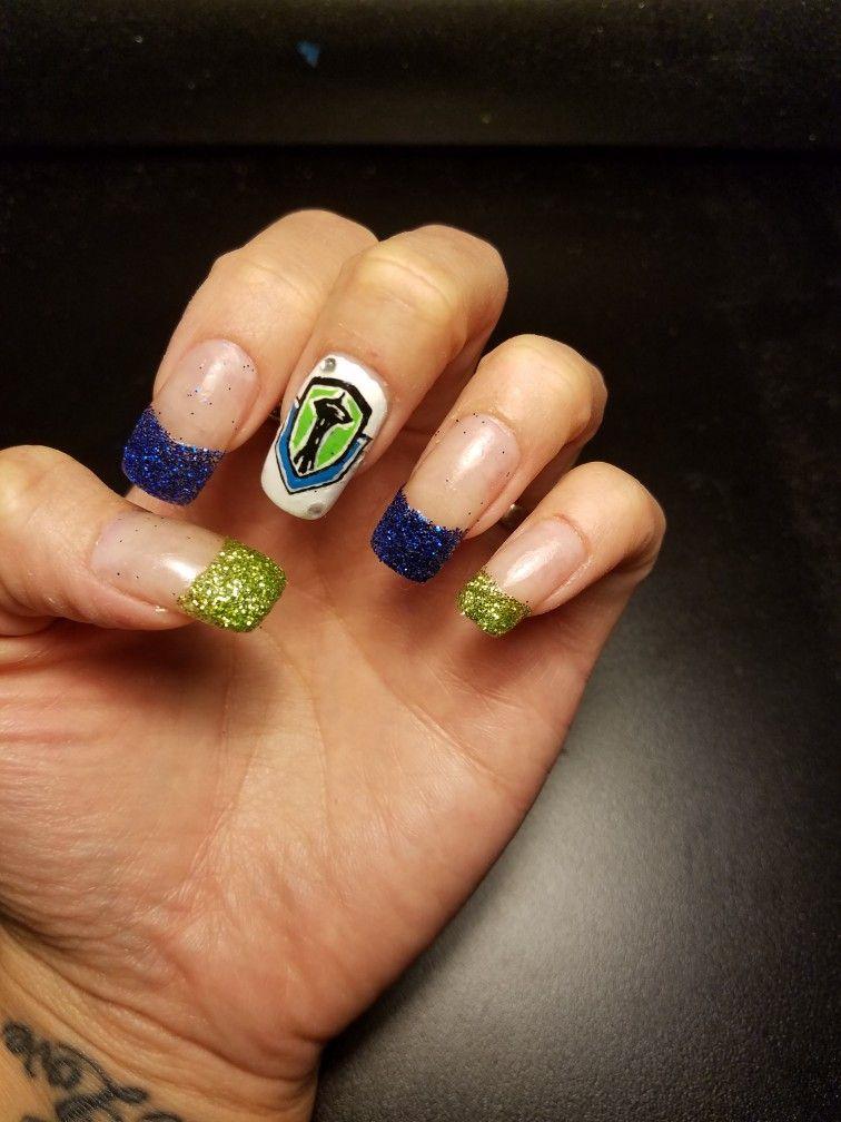Seattle Sounders Nails | Elsa\' s Nail Designs | Pinterest | Seattle ...