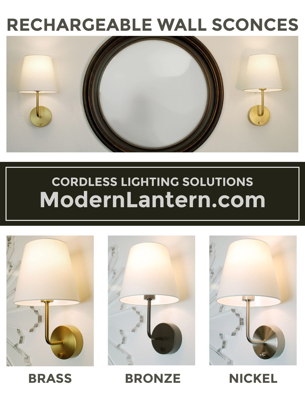 Cordless Wall Sconce By Modern Lantern Battery Operated Wall Sconce Sconces Wall Sconces