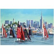 America's Cup San Francisco 24x18 Poster Art by Malcolm Farley