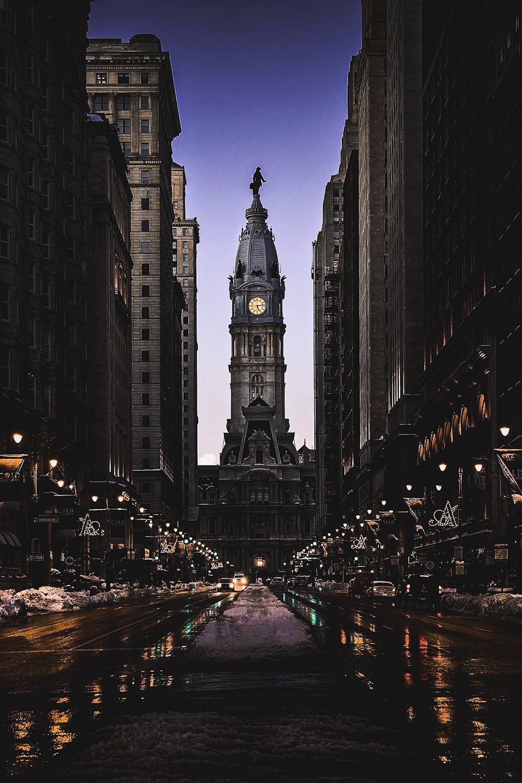 Motivationsforlife Philadelphia Winter Evening By K S
