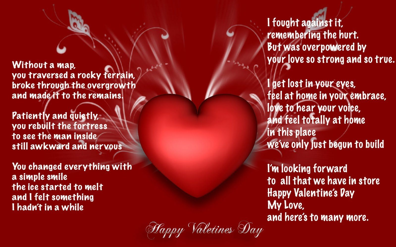 A great Valentine's poem to the woman you love.I love this. | RED ...