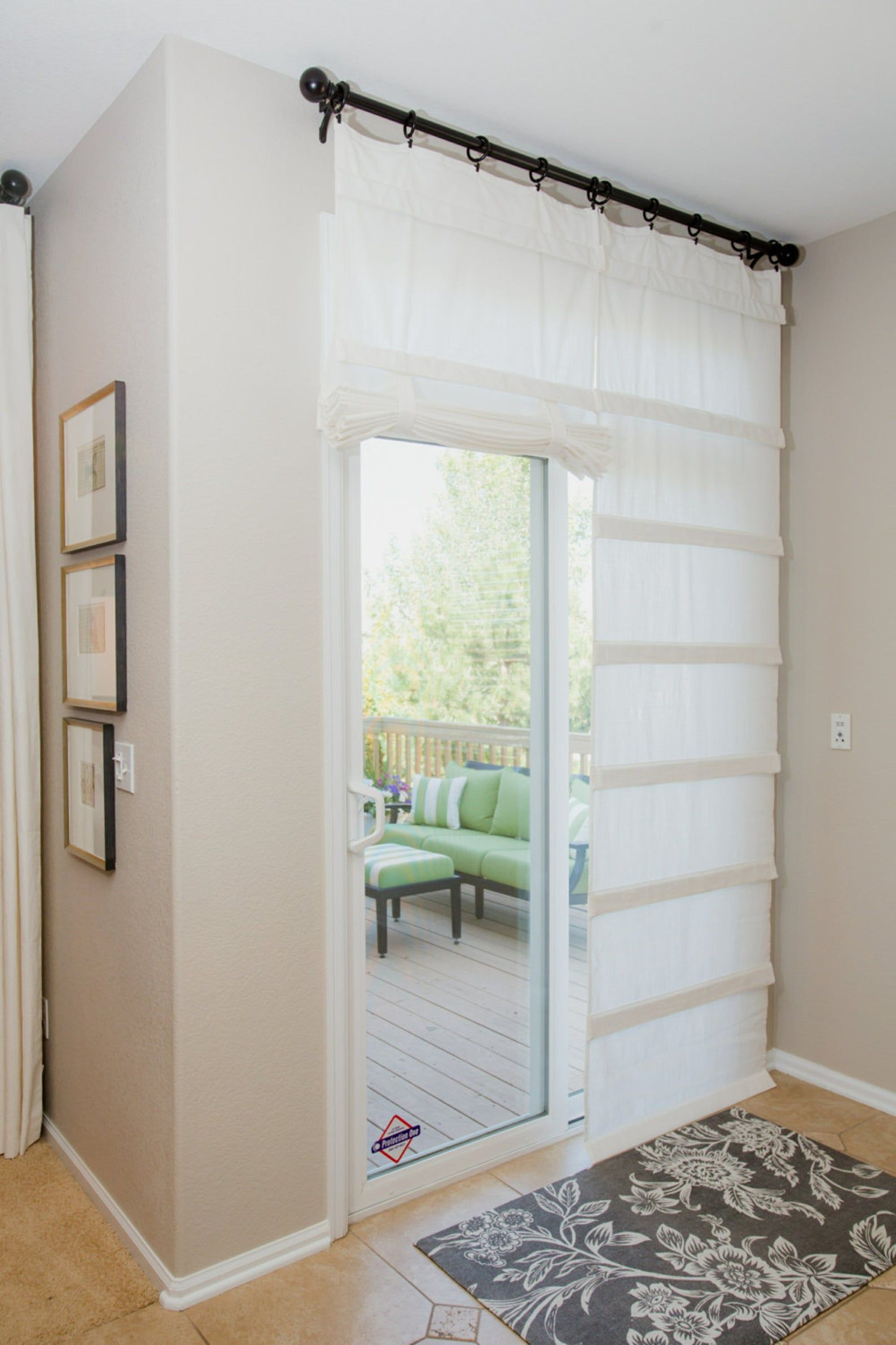 Off White Sliding Glass Door Curtain Shade Pricing Is For 1 Panel In 2020 Sliding Glass Door Curtains Glass Door Curtains Sliding Glass Door