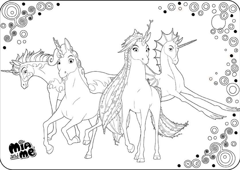 ausmalbilder mia and me 11 | Kreativ Violával | Pinterest | Unicorns ...