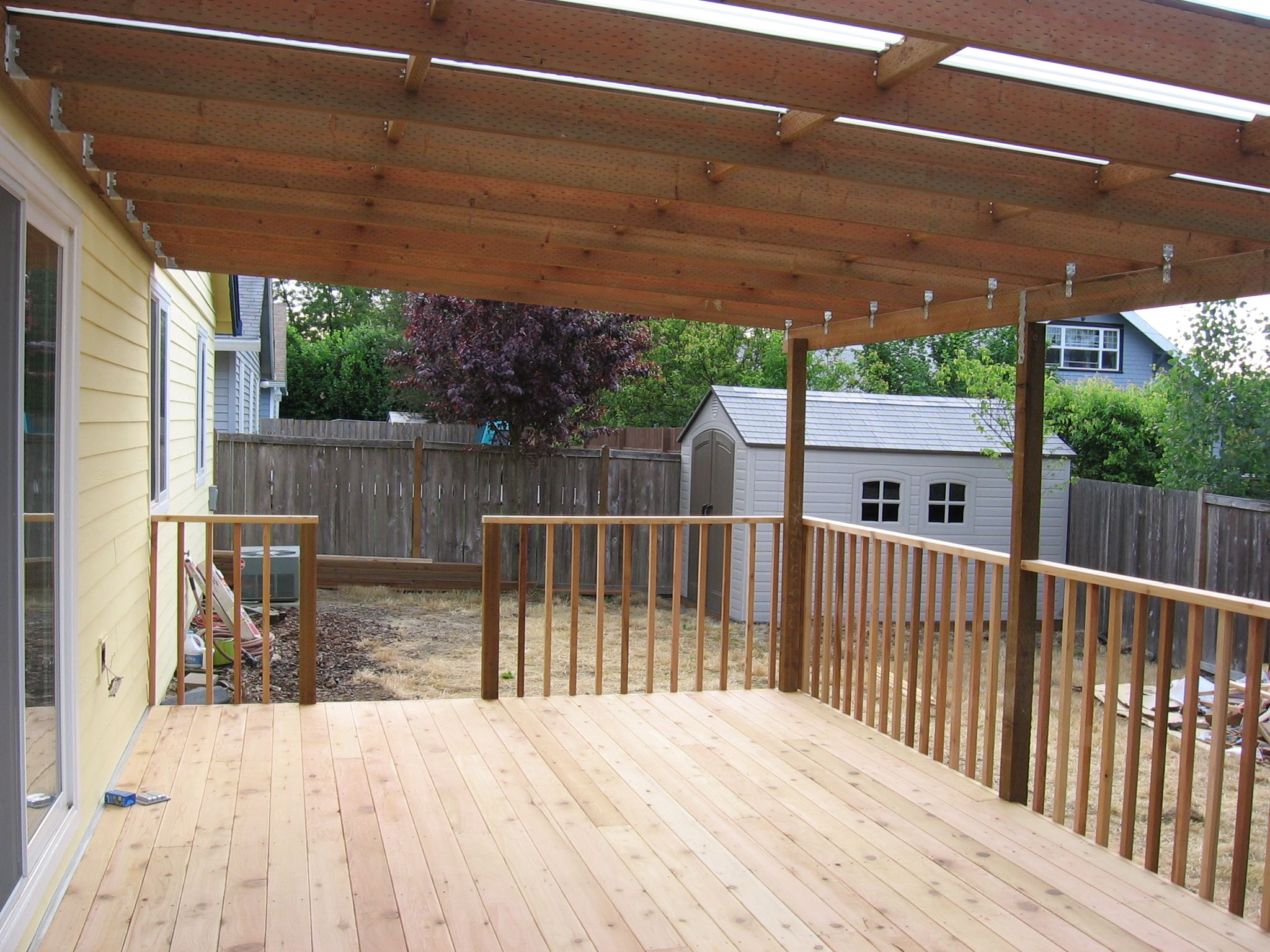cover an existing deck this deck and cover was flashed on steps in discovering the right covered deck ideas id=36398