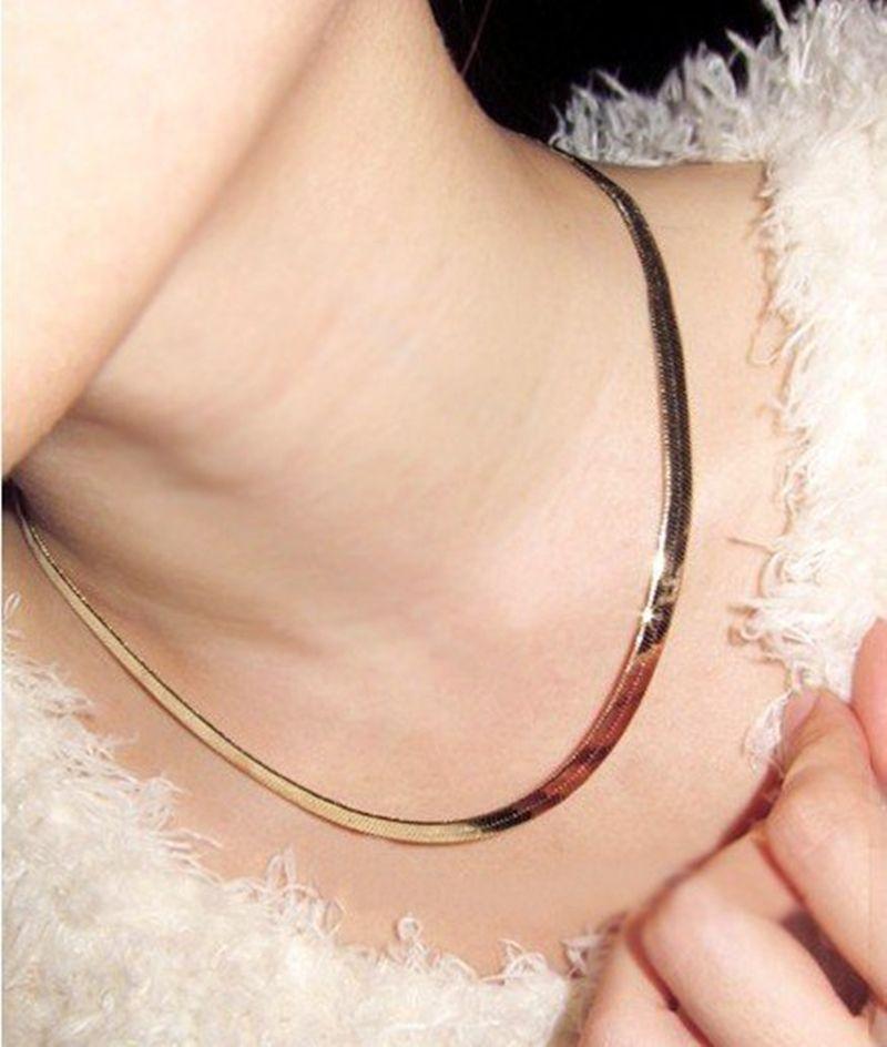 Golden Torques Necklaces Gold Chain Women Chocker Necklace 2L4020 ...
