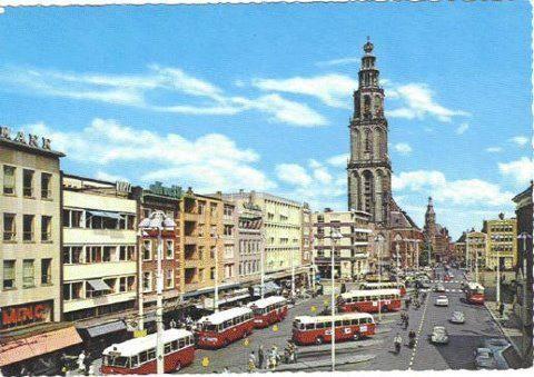 Leuk om te zien hoe het vroeger was.. Groningen, grote markt